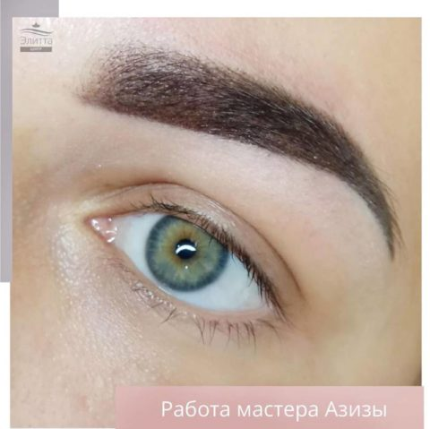 Перманентный макияж (татуаж) бровей 12