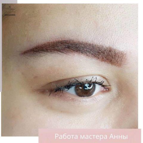 Перманентный макияж (татуаж) бровей 13