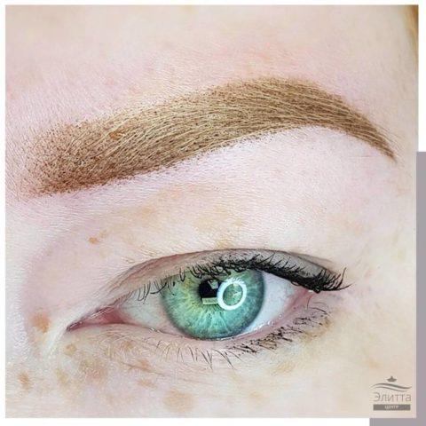 Перманентный макияж (татуаж) бровей 14