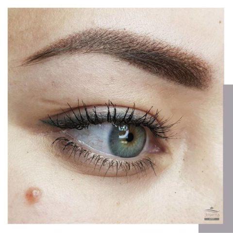 Перманентный макияж (татуаж) бровей 16
