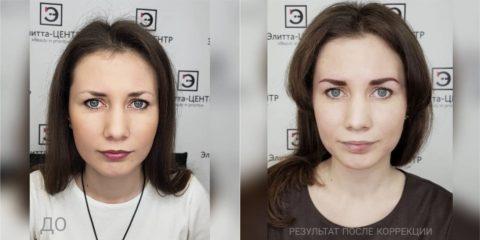 Перманентный макияж (татуаж) бровей 5
